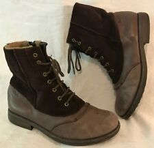 Clarks Brown Ankle Leather Lovely Boots Size 4F (215v)