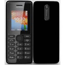 BRNAD NEW BOXED NOKIA 108 (VODAFONE UK) BLACK - SIMPLE EASY USE PHONE