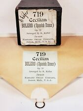 719 Cecilian Bolero Spanish Dance Sasaste 1900 Farrand Organ Co. Piano Roll
