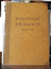 Rare Wwii German Signed Book Feldpost Breife Letters from the Field & Photo 1939