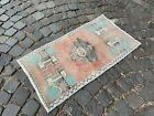 Vintage doormats, Turkish small rug, Hand-knotted wool rug,Carpet | 1,7 x 3,2 ft
