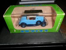Eligor 1932 Ford V8 Blue Roadster MINT Car 1/43 Scale & Box Case Poster Papers