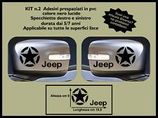 specchietto jeep renegade adesivo logo rubicon stella coppia 4x4 fuoristrada