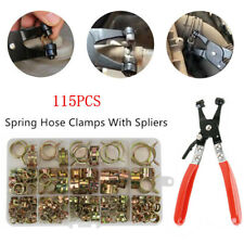 115PC Spring Fuel Water Line Hose Pipe Air Tube Fastener Clamps Clip 5/6/7/8/9mm