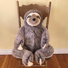 "Large SLOTH Plush 36"" Big Stuffed Animal Huge Jumbo XL Valentines"