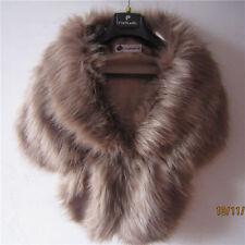 New High-grade jacket khaki Faux Fur Wrap Shrug Bolero Coat Wedding Shawl Scarf