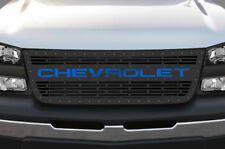 Steel Grille CHEVROLET fits Chevy Silverado 2003-07 1500/2500 Grill BLUE ACRYLIC