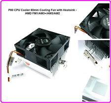 P80 CPU Cooler 80mm Cooling Fan with Heatsink - AMD FM1/AM3+/AM3/AM2