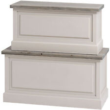 THE STUDLEY COLLECTION BLANKET BOXES - STORE SMALL ITEMS INSIDE.