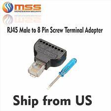 Rj45 Male to 8 Pin Screw Terminal Adapter Ac-Rj45St