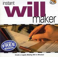 MAKE LEGAL WILLS | England Scotland & Wales | Win 95 98 XP | 7 8 10 see listing