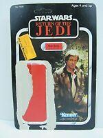 Vintage Star Wars ROTJ Han Solo 77 Card Back Unpunched Kenner 1983 (Pg114B)