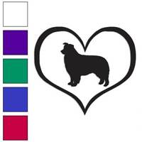 Love Border Collie Dog Heart Decal Sticker Choose Color + Size #1429