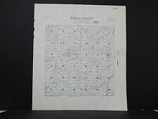 Wisconsin, Sheboygan County Map 1941 Town of Scott L22#50