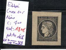 Essai de Cérès 10 centimes Noir neuf, cote : 700 euros, départ à petit prix