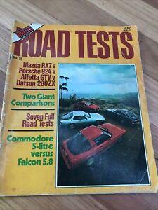 WHEELS Car magazine ROAD TESTS NO # 36 RX7 924 280ZX GTV 5.8 FALCON V8 504 244GT