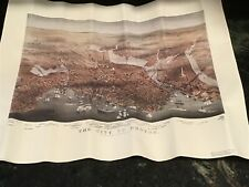 "Boston Vintage Map Currier And Ives 1873 23"" X 17"" Matte"
