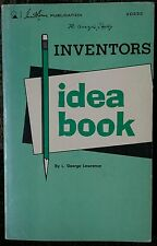 Inventor's Idea Book For Experimenters Technicians 1969 Lawrence Vintage Rare!