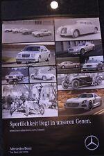 Poster (2 sides) Mercedes-Benz signed by Gemscher / Ludwig / Lohr / Mass / Asch