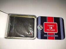 New Black Bi-fold Leather Men Wallet RFID protection,Tommy Hilfiger,Free Ship
