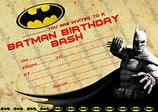 Batman superheld Geburtstagparty Einladungen für jungen X 10 KARTEN
