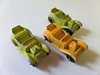 "Vintage Tootsie Toy Lot of 3 Roadsters Die Cast Toy Car 2"" Long"