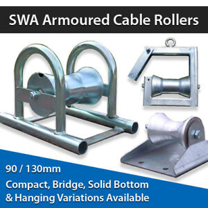 Armoured Cable Rollers Straight Line Heavy Duty SWA Cable Rollers 90mm or 130mm
