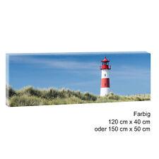 Sylt  Bild Leinwand Modern Design Poster Strand Meer XXL 120 cm* 40 cm 542