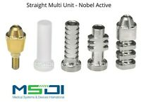 Straight Multi Unit Abutment set - Nobel Active Dental Implants Conical Implant