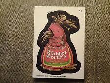 1992 o-pee-chee Canada Wacky Packages #45 Mrs. Blubberworth's comic back MINT