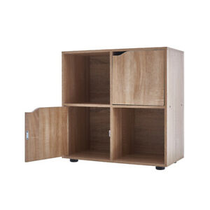 Wooden 4 Cubes Bookcase Unit Stand Book Shelf CD DVD Shelving Storage Organiser