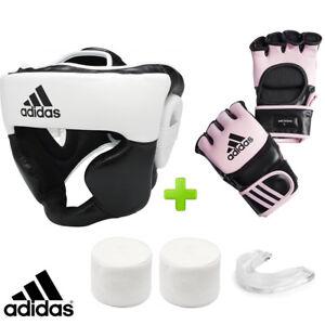 adidas Pink MMA Boxing Training Set! Headguard, Gauze & Mouthguard