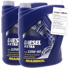 10 Liter MANNOL Diesel Extra 10W-40 API CH-4 SL Motoröl 10W40