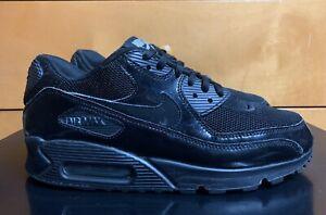 Nike Air Max 90 Premium Black Patent Size 9 Women's 2019 Worn 5x RARE 1 2 95 97