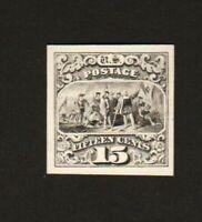USPS INTAGLIO PRINT OF MINT 1869 BLACK 15c LANDING OF COLUMBUS  SCOTT 118
