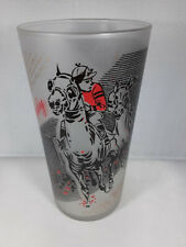 1961 Kentucky Derby Frosted Glass Run for the Roses Churchill Downs