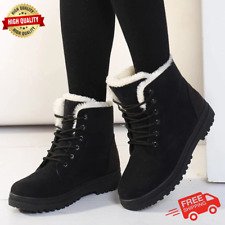 Winter Boots Snow Warm Shoes For Women Leather Fleece Womens Black Boot Insoles