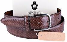 NWT 350$ FRATELLI NOVIELLO BELT Ayers snakeskin brown python Italy eu 110 us 43