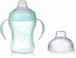 Nuby Baby Training Cup 240ml 6M+ Handles and Anti-Leak Silicone Spout - Green