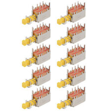 Push Button Switch Dpdt 6 Pin 1 Position Self Locking Yellow 10pcs