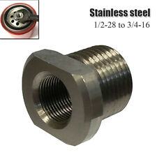1/2-28 to 3/4-16 Automotive Threaded Oil Filter Adapter Black Stainless Steel