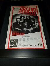 Urgent Running Back Rare Original Radio Promo Poster Ad Framed! #1