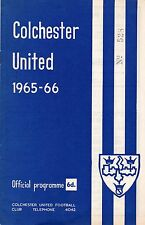 colchester united v darlington 25-4-66 programme.