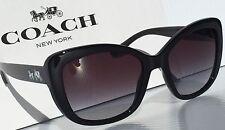 NEW* Coach FASHION Black Frame w/ Gradient Gray Women's Sunglass HC8210 L1639