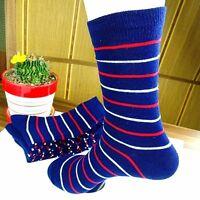 6Pairs Mens Women Socks Lot Classic Cotton Stripes Casual Socks 22*24cm CH124