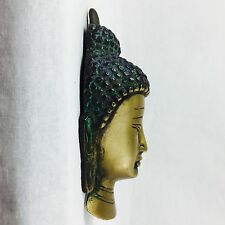 NEW Brass Collectable Buddha Head Art Sculpture Wall Mountable