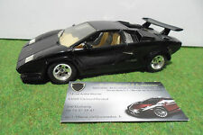 LAMBORGHINI COUNTACH Noir de 1988 à l'échelle 1/24 BURAGO voiture miniature