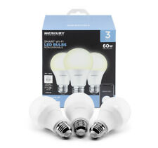 Merkury Innovations Smart Wifi App Controlled Led Light Bulbs (3 Pack) NEW