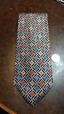 Mark Mathieu Red Black Blue Brown Geometric Pattern Mens Necktie Free Shipping