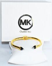 MK WOMEN 7/'/' GOLD//BLACK COLOR HORN HEAD STYLED  BRACELET CUFF